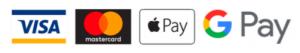 We accept Visa, Mastercard, Apple Pay and Google Pay