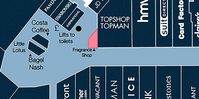 Map location of The Fragrance Shop