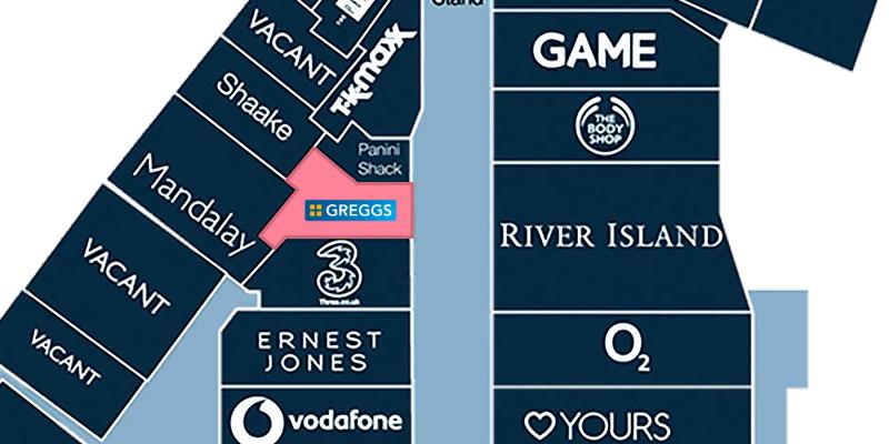 Map location of Greggs