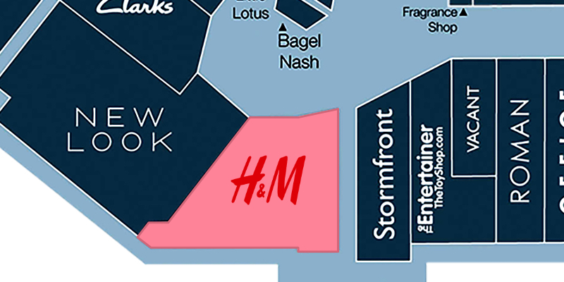 Map location of H&M