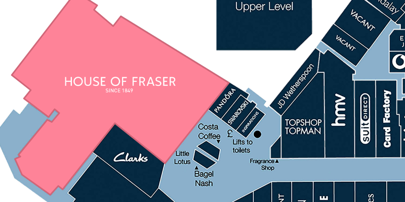 Map location of House of Fraser