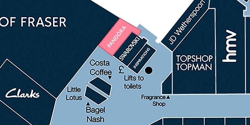 Map location of Pandora