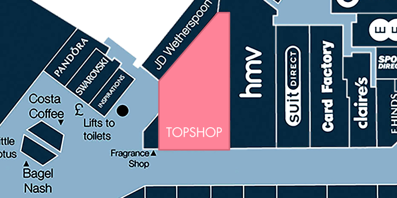 Map location of Topshop